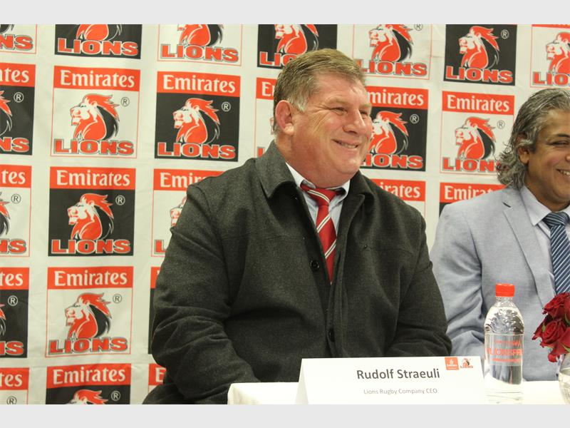 Rudolf Straeuli takes over as the new Lions CEO